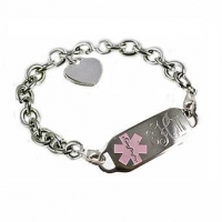 Item# DACT20- Deluxe Sterling Oval Link Medical ID Bracelet 2 lobster clasps (Detachable)