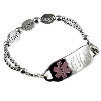 China Item# DSG11 - Silver Expressions Medical ID Bracelet on sale