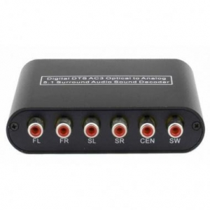 China Optical Coaxial Digital Audio To 5.1/2.1 Channel AC3/DTS Surround Sound Decoder on sale