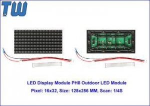 China High Brightness SMD P8 LED Display Screen Long Distance Viewing Video Play on sale