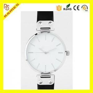 China Luxury OEM Logo Women Water Resistant Watch 30m Stainless Steel Back Geneva Watch on sale