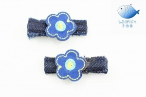 China Baby jean hairclips on sale