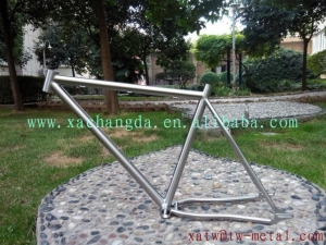 China Titanium Fat Bike Frame With 44mm Head Tube on sale