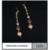 China Earrings E2511 Champagne Garnet Stone Earring Jewelry Multicolour Jewelry for sale