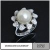 China Rings R7565 Fashionable Diamond Jewelry Rhodium Plated Pearl Jewelry for sale
