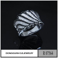 China Rings R7564 New Arrival Silver 925 Two Tone Evening Party Jewelry on sale