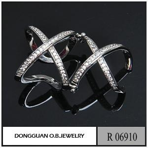 China Rings R6910 Fashion Movable Cheap Rhodium Plated Double Ring on sale