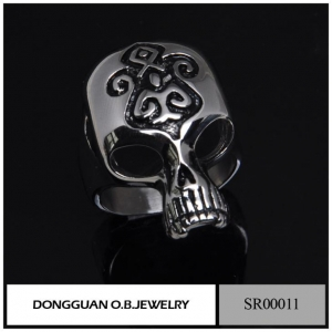 China Stainless Steel Jewelry AB001 Fashion Popular Hight Polish Skull Bracelet For Men on sale