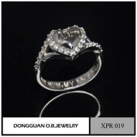Rings On Line Shopping White Gold CZ Ring 925 /Gemstone Heart Ring
