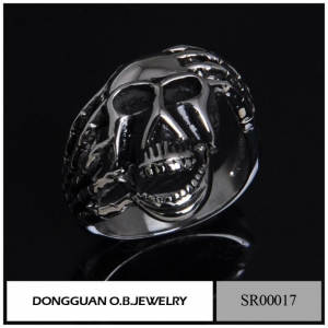 China Stainless Steel Jewelry SR0017 Stainless Steel Jewelry Skull Fashion Ring on sale