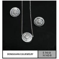 China Jewelry Sets E741-B And N143-B Diamond Jewelry Set on sale