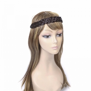 China Black elastic braid synthetic hair band on sale