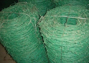 China PVC Coated Barbed Wire Square Pipes on sale