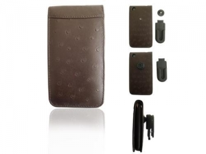 China Cell Phone Cases iPhone 3G Brown Plastic Belt Clip on sale
