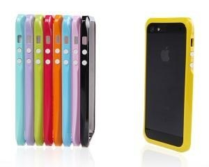 China Candy Trim Slim Fit Hybrid Case Colorful Bumper for Apple iPhone 5 5s on sale