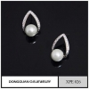 China New Earring Designs Imitation Rhodium Pearl Jewelry, 2016 Stud Designs Artificial Pearl Jewelry for sale