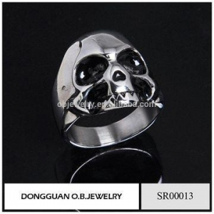 China Rings 2016 New Skull Jewelry Ring 314 Stainless Steel Ring Without Stone on sale