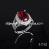 China Rings 18K/24K Gold Plating Silver 925 Jewelry Sterling Ring /Wedding Ruby Ring for sale