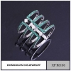 China Rings Copper Material Knuckle Ring Jewelry/wholesale Two Stone Ring Designs for sale