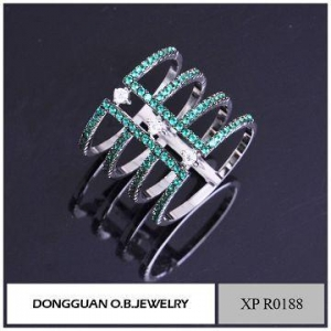 China Rings Copper Material Knuckle Ring Jewelry/wholesale Two Stone Ring Designs on sale