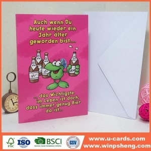China Factory Anniversary Free Printable Handmade Greeting Invitation Cards For Birthday on sale