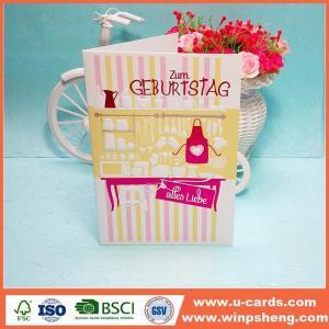 China Creative Ideas Pretty Printing Handmade Birthday Card on sale