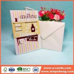 China Customized Sweet Unique Handcrafted Thanking Of Your Cards on sale