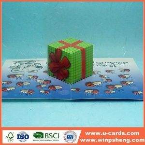 China Creat A I Love You Pop Up Card Flower Template on sale
