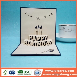 China Custom Beautiful Love Greeting Cards Designs Handmade Birthday Cards on sale