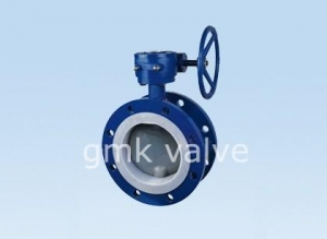 China PFA Lined Butterfly Valve Flange Type on sale