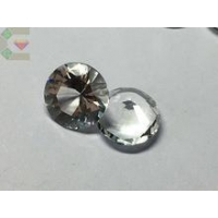 High purity 5mm round cut natural white topaz loose semi precious gemstone