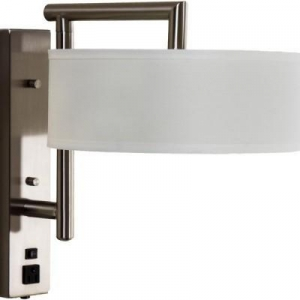 China Custom Lights Swing Arm Wall Lamp with Outlets for Hotel WL11128 on sale