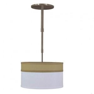 China Bronze and White Linen Drum Shade Pendant Light PL31003 on sale