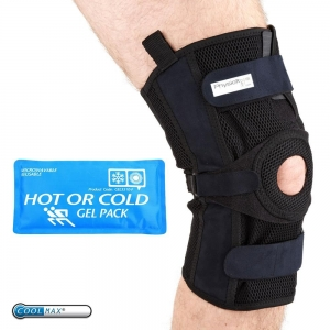 China PhysioRoom.com Elite Pro Mesh Hinged Knee Brace with Reusable Hot/Cold Pack on sale