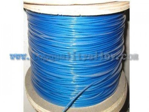 China Plastic coated wire rope on sale