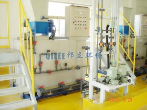 China automatic dissolver Three-tanks Continuous Automatic Polymer Mixing Station on sale