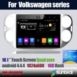 China Big screen Quad Core Car DVD VW Tiguan 3G WIFI BT android4.4.4 on sale
