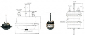 China Other Trailer Parts Air Brake Chamber Series on sale