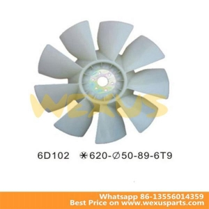 China 6D102 Excavator 9 Blades Cooling Fan Blade with 4 Fan Blade on sale