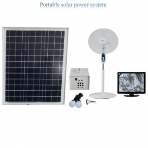 China 50w Portable solar fan & lighting system on sale