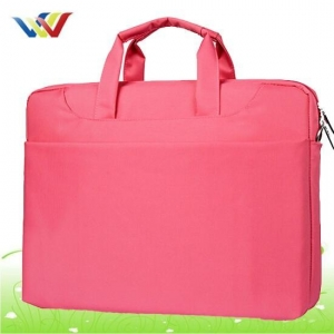 China Laptop Bag Pink 600D polyester laptop bag for lady on sale