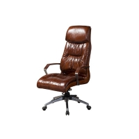China Grain Leather Swivel Executive Office Chair on sale