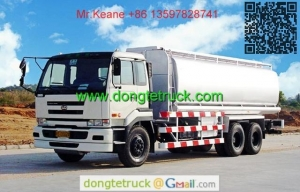 China 20000 liters Nissan UD chemical tanker truck for acid and alkali on sale