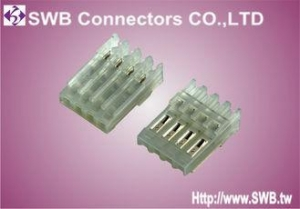 China Male Wire to Board IDC Socket Connector 2.54mm Pitch , Crimp Style Connector Wafer on sale