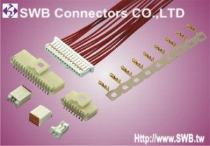 China Automotion Wire To Board Connectors 1mm Pitch Plug Housing Terminal , 2 Pin Pcb Connector on sale