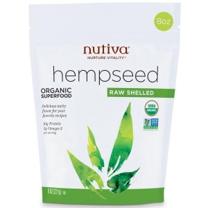 China (206) Nutiva, Hempseed, Organic Superfood, Raw Shelled, 8 oz (227 g) on sale