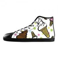 Shoes Black High Top Canvas Shoes Model002 (Men)