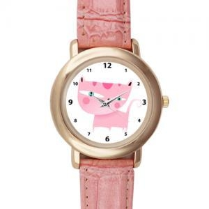 China Watches Pink Leather Alloy High-grade Watch Model201 on sale