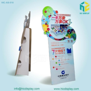 China Manufacturer advertising cardboard standee display on sale