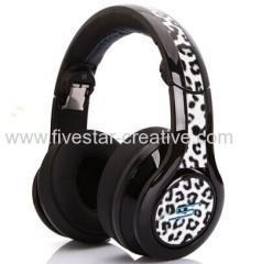 China Limited Edition SMS Audio DJ Pro Street by 50 Cent White Leopard Over-Ear Wired Headphones on sale